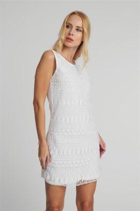 97e6ab2b33 Sukienka mini z koronki biała Fresh Made - biały