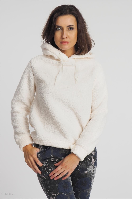 bluza damska z kapturem ecru