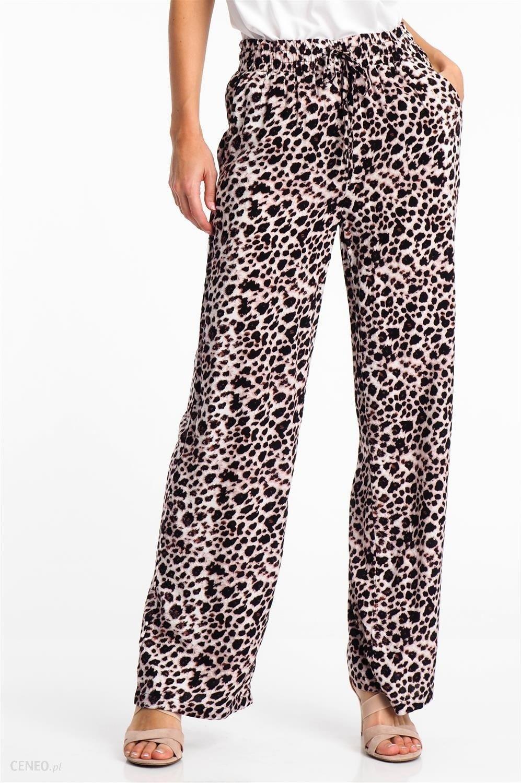 9e66a837 Spodnie materiałowe damskie w cętki brązowe Haily's - odcienie brązu i beżu