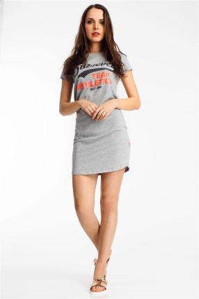 3341026ebdd Sukienka mini T-shirt dress szara Sublevel - odcienie szarości i srebra
