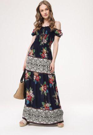 7fb2e60185 Mohito - Szara sukienka w groszki z półokrągłym kołnierzem - Szary ...