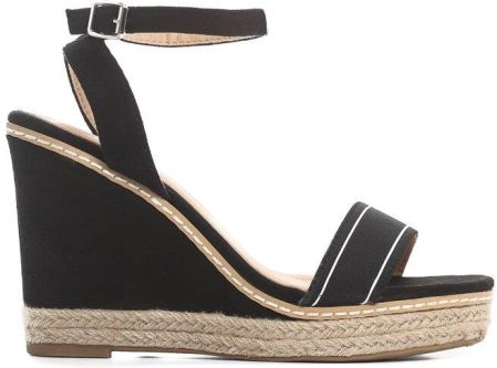 adfe9d09 Granatowe sandały koturn sandałki espadryle 124 40 - Ceny i opinie ...