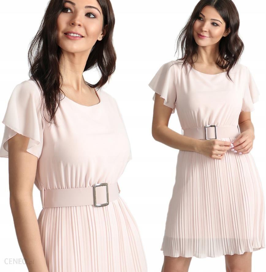 481f1b9c07b38f Elegancka sukienka z paskiem plisowana I37 Kolory - Ceny i opinie ...