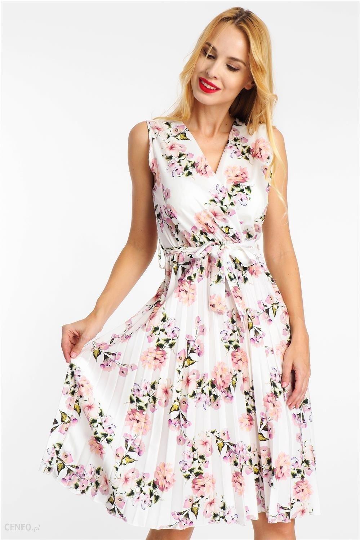 272e852970aed4 ... Sukienka midi plisowana w kwiaty biała Haily's - zdjęcie 3 ...