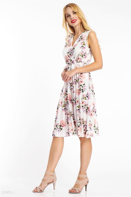 e170d6bbf45f8f Sukienka midi plisowana w kwiaty biała Haily's - Ceny i opinie ...