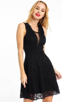 b8d023abfb Sukienka midi koronkowa elegancka czarna Haily s