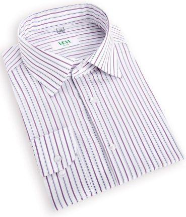 aff7a6c270252b Męska Koszula w Drobne Fioletowe Paski