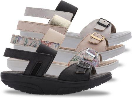 Sandały damskie 3.0 Pure Walkmaxx, 42, czarnybiały
