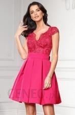 99c582305903fd Sukienka balowa z koronkową górą fuksja BICOTONE - Ceny i opinie ...