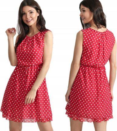 c490644f36 Plisowana sukienka koktajlowa pasek F69 Bordowa - Ceny i opinie ...