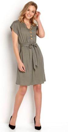 664e3e6fde Bon Prix Sukienka srebrny z nadrukiem 904116 27441 - Ceny i opinie ...
