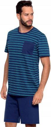 e15d65a3a43ed0 Piżama męska krótki rękaw i spodnie roz.M,wzór Allegro