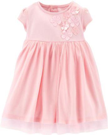bd77a64f68 Amazon Sukienka dla dziewczynki 3 warstwy różowe kwiaty na kuchenkę ...