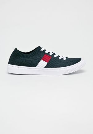 Buty Tommy Hilfiger Victoria 1D Granatowe Canvasowe