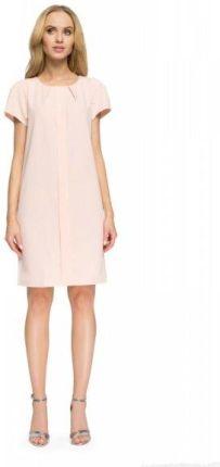 b1bffb1e8e Style S023 Sukienka biurowa mini pudrowa