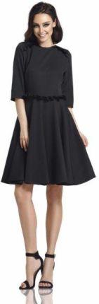 695afd8b5e Lemoniade Kobieca sukienka z falbankami L291 czarny