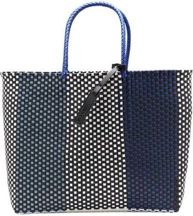9605fd05e6fce Pull & Bear Czarna torba shopper z przeszyciami - Ceny i opinie ...