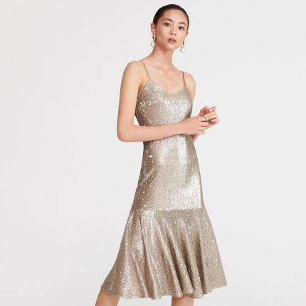 f4bde8f98f Reserved - Złota sukienka z cekinami - Złoty ...
