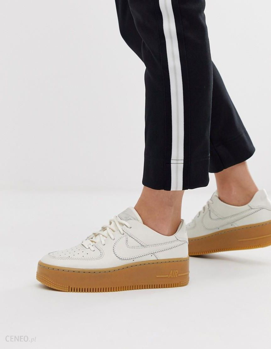 Nike Yellow Air Force 1 Sage Low Trainers Yellow Ceneo.pl