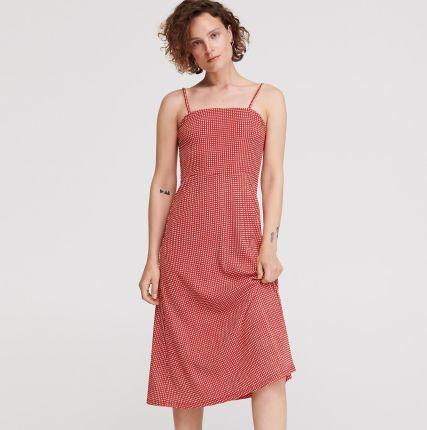 400722c393 Reserved - Sukienka z drobnym wzorem - Czerwony ...
