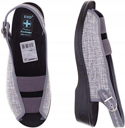 7dd1d088 Bonprix Sandały trekkingowe ze skóry 918417_37444 niebieski - Ceny i ...