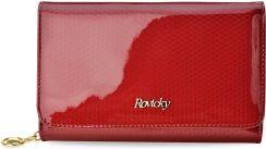 4bbff5d2be197e Wyjątkowy skórzany portfel damski rovicky lakierowana tłoczona portmonetka  rfid eleganckie pudełko - czerwony
