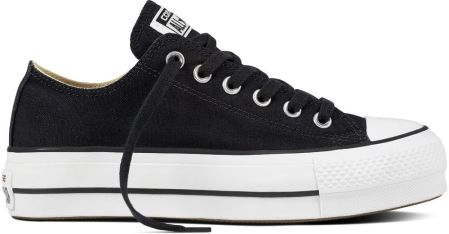 16569251b1bb1 Converse czarne trampki na platformie Chuck Taylor All Star Lift Ox  Black/White - 39