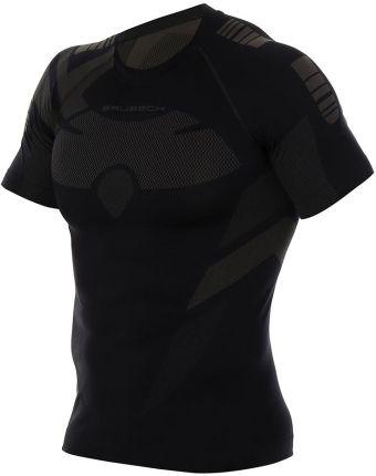 ffe6653ee Koszulka termoaktywna męska Brubeck Dry SS11970 graphite/black