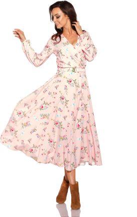 597f897505 Podobne produkty do Mango Kids - Sukienka dziecięca Flour 110-152 cm.  Kopertowa Różowa w Kwiatki Midi Sukienka z Paskiem