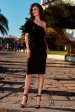 1b17cf065cc6cf Lemoniade Olśniewająca sukienka na jedno ramię L254 czarny