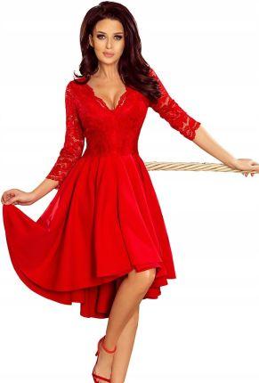 b9c0a4b560 sukienka wieczorowa koronka rozkloszowana wesele M Allegro