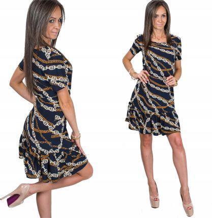 a826e27ca6f00f Awanti paski Sukienka Hiszpanka koronka gipiura - Ceny i opinie ...