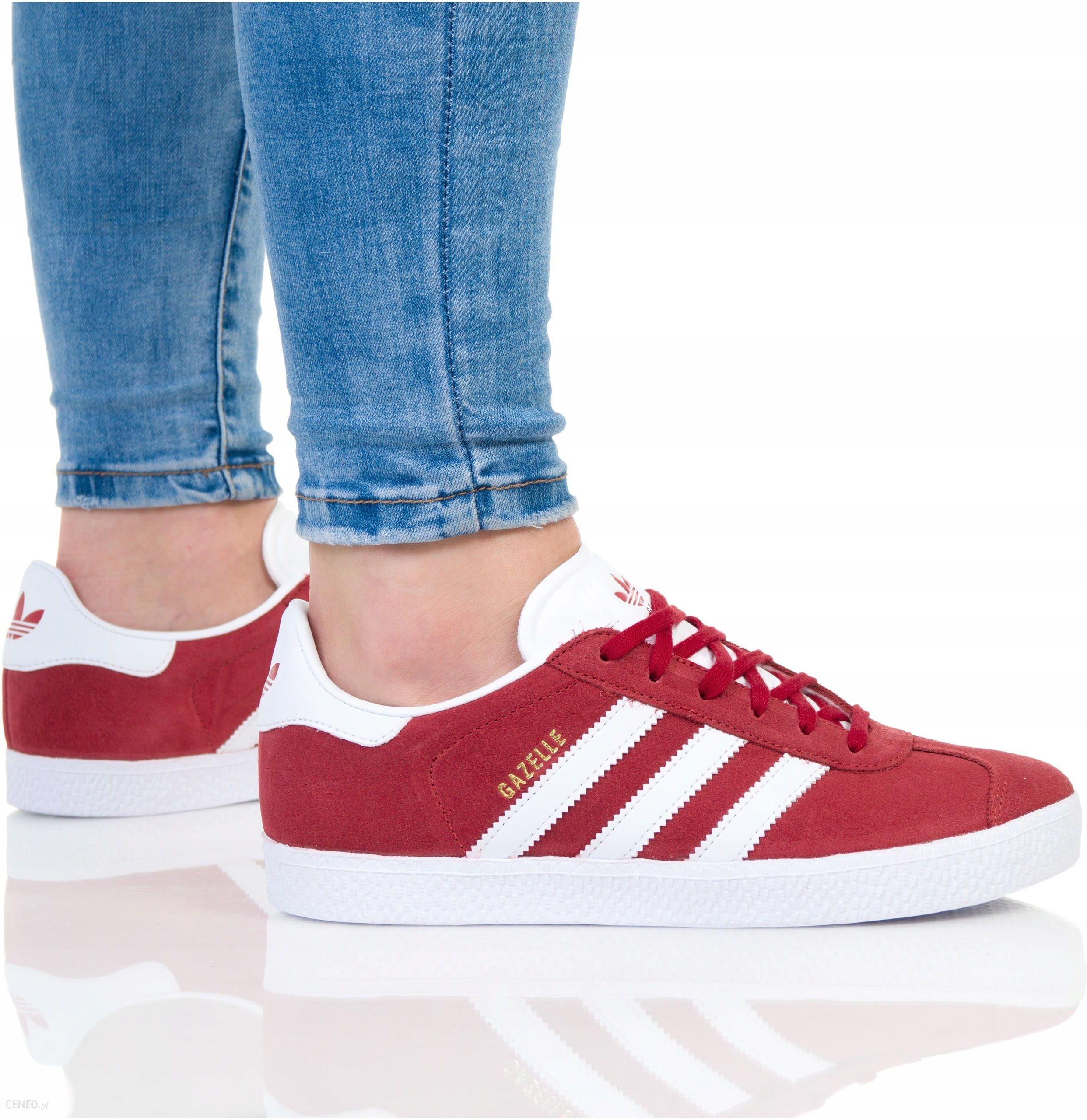 Buty Adidas Damskie Gazelle J BY9543 Czerwone Ceny i opinie Ceneo.pl