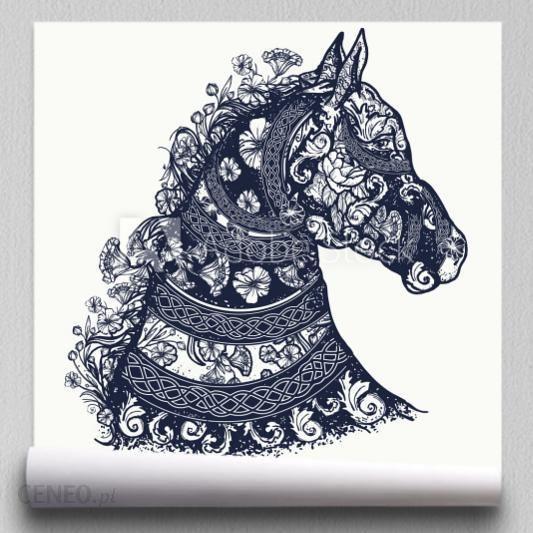 Fototapeta Tatuaż Konia I Projekt Koszulki Symbol Wolności Siły łaski Głowa Konia W Opinie I Ceny Na Ceneopl