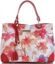 775553b84f768 Firmowe Torebki Skórzane Modne Kuferki Damskie w malowany wzór kwiatów  renomowanej marki Vittoria Gotti Made in ...