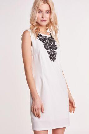 aff40f68a6 Elegancka taliowana sukienka bez rękawów w kratę T236 - Ceny i ...