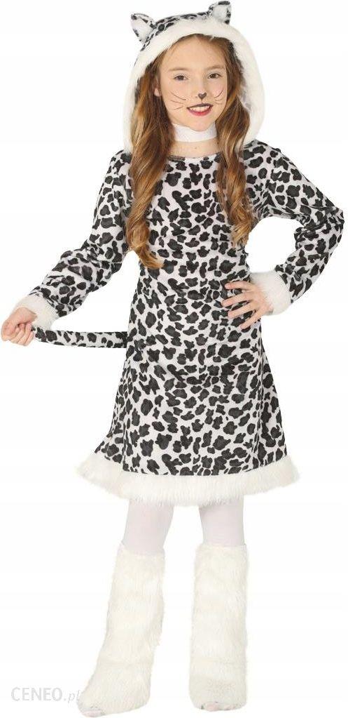 190ea6fb62b2a7 Strój Sukienka Leopard Gepard W Cętki ogon 142-148 - Ceny i opinie ...