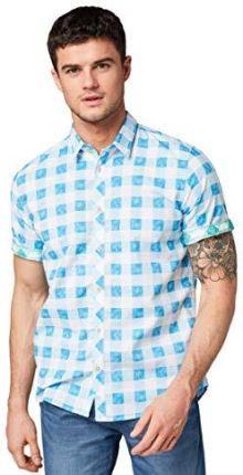 Amazon Tom Tailor (NOS) męska koszula rekreacyjna karo  4VPC2