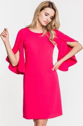 0b00f06ffd 48-06 CATERINA - sukienka z koronkową górą (pastel róż)