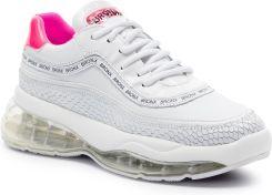 5971c12275eca Sneakersy BRONX - 66260-JH BX 1562 White/Neon Pink 736 eobuwie