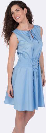 5d096a0d453c04 Giorgio Di Mare sukienka damska L jasny niebieski