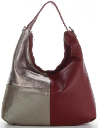 848515a36adc7 Włoska Uniwersalna Torba Skórzana w rozmiarze XL w modne wzory Czerwona  (kolory) ...