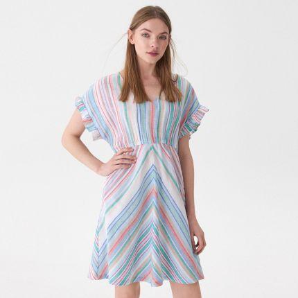 ff1b123bcf House - Sukienka w kolorowe paski - Wielobarwny ...