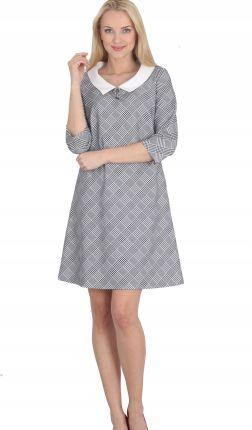 1ef0ab909d Trapezowa sukienka z kołnierzykiem M64515 1 s Allegro