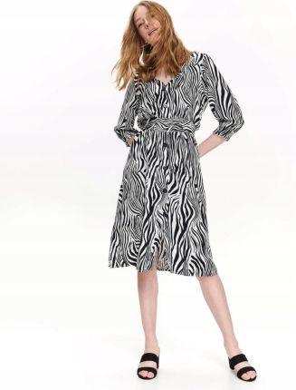 e30db22fc165a5 Top Secret Sukienka Damska W Modny Zwierzęcy Nadru Allegro