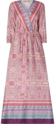 0fc04bcb51 Jake s Collection Długa sukienka z satyny z ornamentowym wzorem ...