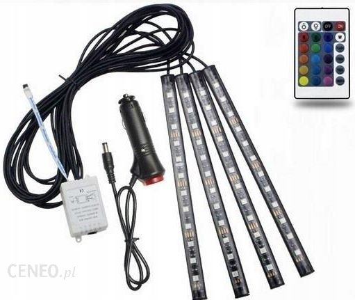 Tuning Optyczny Zd65 Oświetlenie Wnętrza Auta Samochodu 48 Led Rgb Opinie I Ceny Na Ceneopl