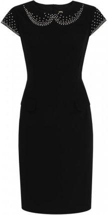 ee0b7446be Czarna sukienka z uroczym wzorem Potis   Verso ELENA