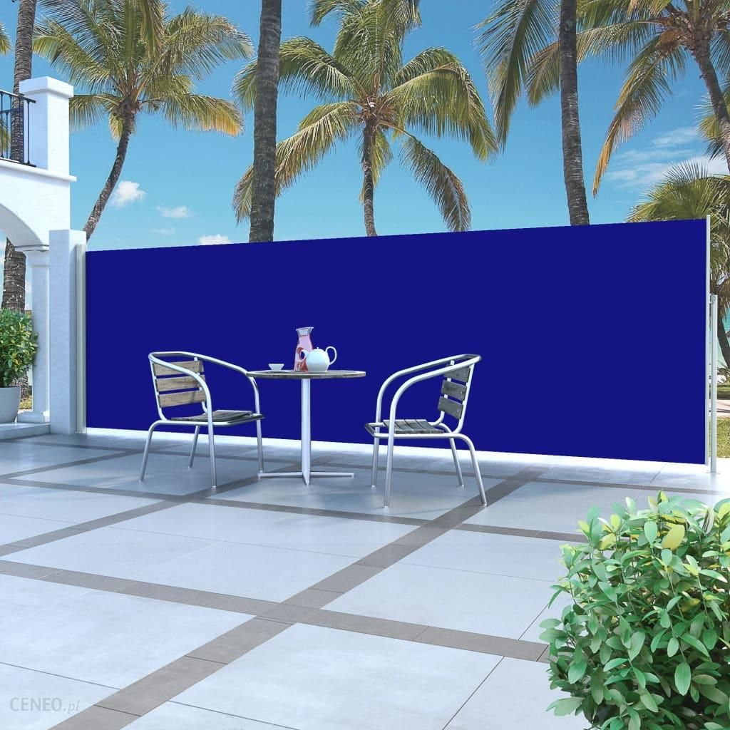 Niebieska Markiza Boczna Na Taras 160 X 500 Cm