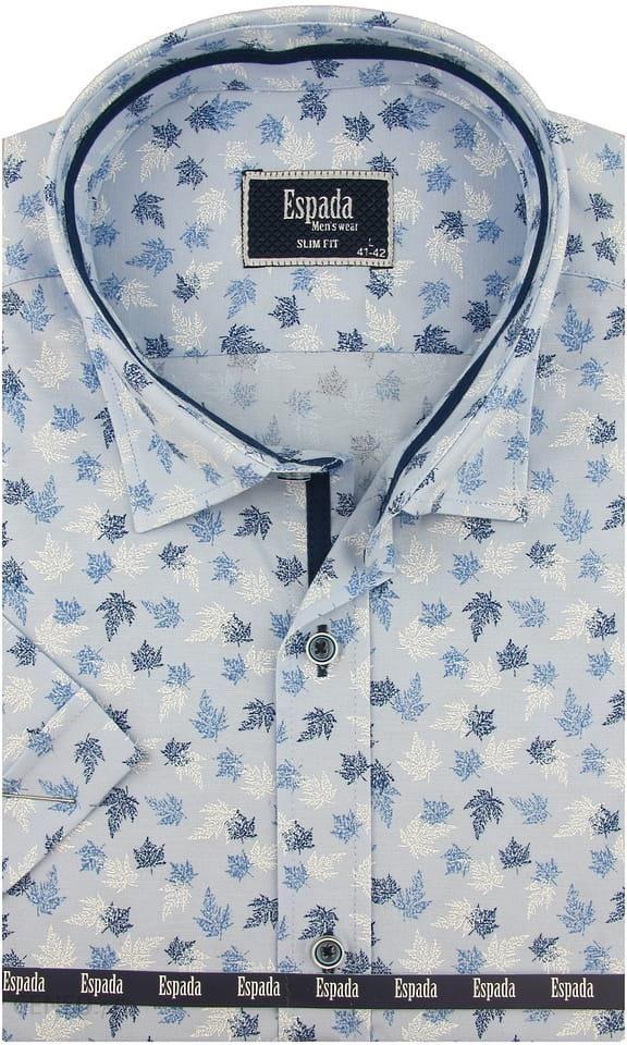 Wielokolorowa koszula męska Espada z elastanu z długimi